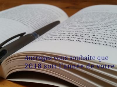 Meilleurs vœux d'écriture 2018
