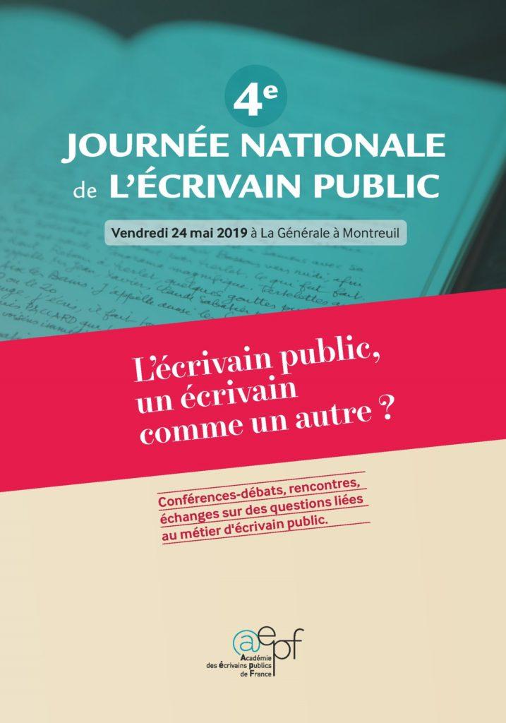 4eme journée nationale de l'écrivain public le 24 mai