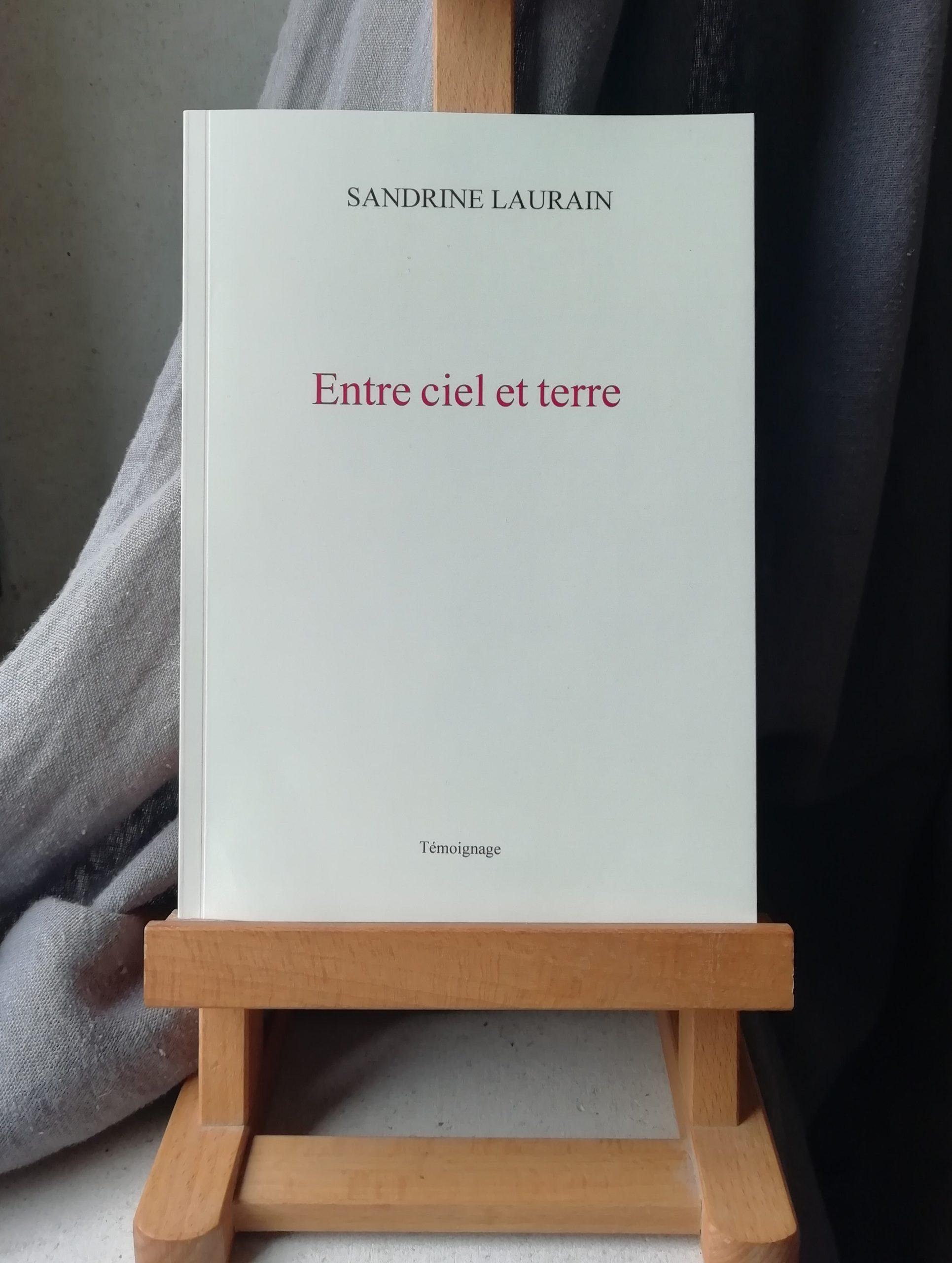 Recueil Entre ciel et terre Sandrine Laurain témoignage posthume sur l'inceste